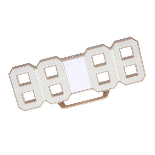 Digital 3D LED Reloj de Pared Accesorios de Laboratorios Producto Comercial - Marco metálico LED Blanco