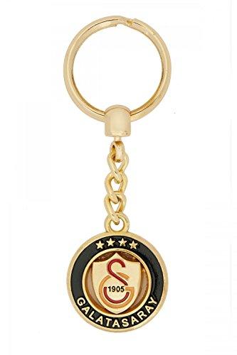 Gök-Türk Schlüsselanhänger Galatasaray GS für Fußballfans - aus Metall Gold Farbe