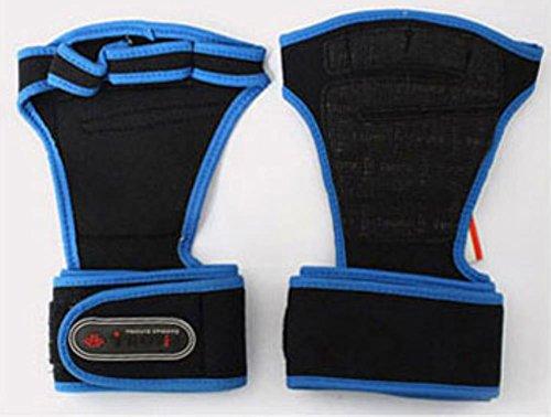 TROVIS フィットネスグローブ筋トレ ウェイトリフティング グローブ ジムトレーニングダンベル バーベル トレ手首保護 握力アシストに (BLUE, L)