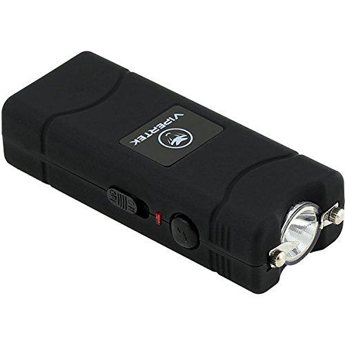 VIPERTEK VTS-881 - 35 Billion Micro Stun Gun - Rechargeable with LED Flashlight, Black