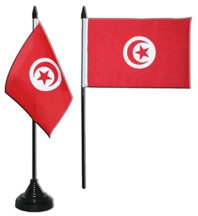 Flaggenfritze Tischflagge/Tischfahne Tunesien + gratis Aufkleber