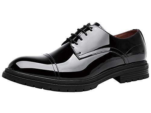 Zapatos de Cordones Oxford para Hombre Brogue Cuero Boda Negocios Vestir Charol...
