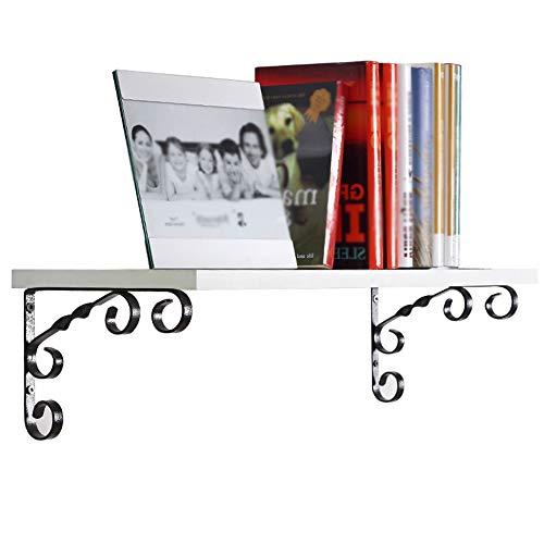 LRZLZY Wandplank bloem plank boekenplank huishoudelijke smeedijzer wit houten scheidingswand eenvoudige moderne wanddecoratie frame