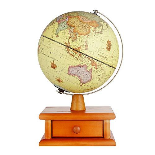 Jopjdpdsf Globus Beleuchtet,20Cm Antike Kugel Beleuchtung Hd Medium Globus Tischlampe Schubladendekoration