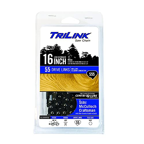 TriLink CL15055TL2 Chainsaw Chain 3/8 LP Semi-Chisel .050 55DL Compatible with/Replacement for Stihl 009, 009L, 010, 012, 015, 020, 021, 023, 311Y, E10, E14, MS181C, MS200, MS200T S55-91PX Chain