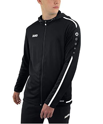 JAKO Herren Kapuzenjacke Striker 2.0, schwarz/weiß, S, 6819