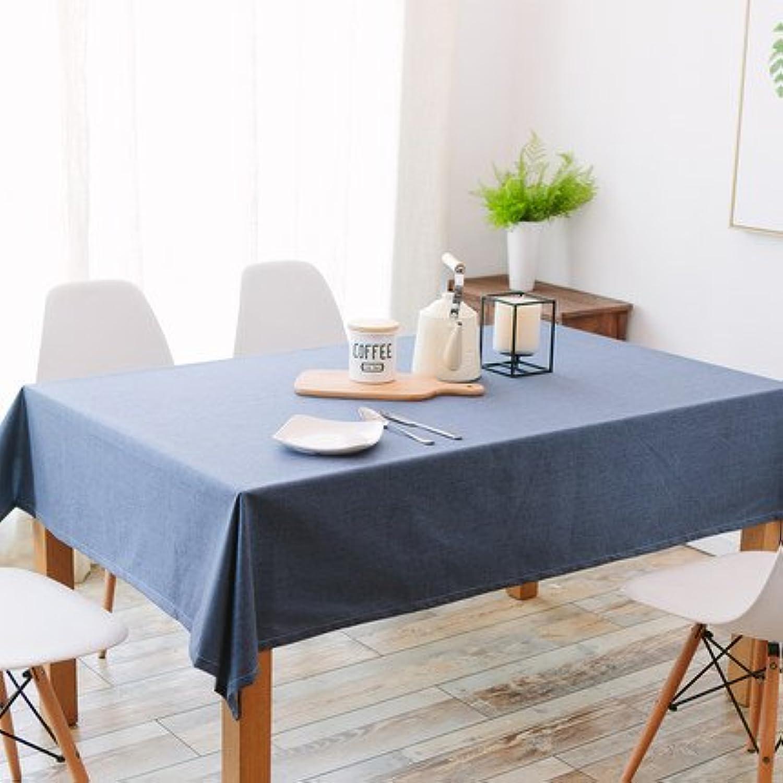 Einfarbig wasserdicht Tischdecke Baumwolle Leinen quadratisch Couchtisch Tischdecke ( Größe   130180cm )