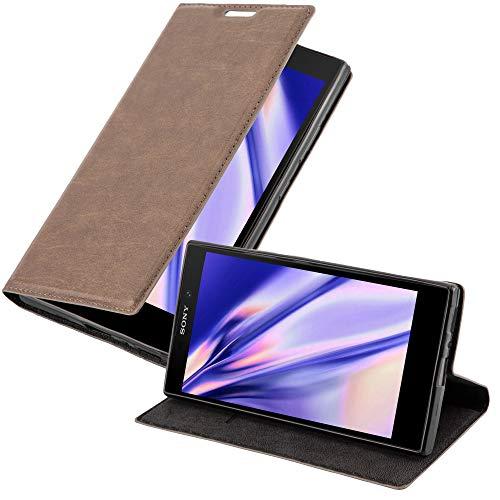 Cadorabo Hülle für Sony Xperia L2 in Kaffee BRAUN - Handyhülle mit Magnetverschluss, Standfunktion & Kartenfach - Hülle Cover Schutzhülle Etui Tasche Book Klapp Style