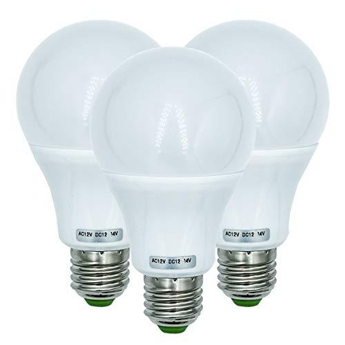 7W E27 LED Glühbirnen Mittlerer Schraubsockel 570 LM 50W 60W 70W 12V Niederspannungslampe für Off-Grid-Solarsystembeleuchtung Marine Boat RV Innenbeleuchtung Wohnmobil Warmweiß 3000K-3er-Pack[MEHRWEG]