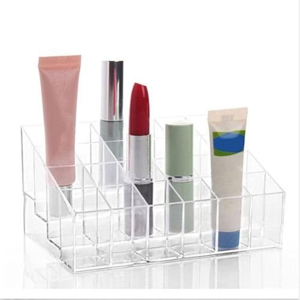 空の無傷放映BEE&BLUE 洗面所 化粧品 メイク 小物 収納 ボックス 収納スタンド コスメ 化粧品 口紅 香水 24 アクリルボックス 透明