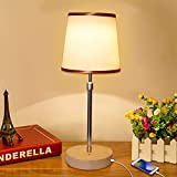 JOWHOL Touch Control Bedside Lamps with Fast USB Charging Port, Table Lamps for Bedrooms, Living Room, Lounge, Dresser.