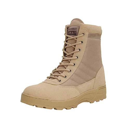Yefree Botas Altas tácticas Unisex para Adultos de Zapatillas de Deporte Militares de Desert Sole con Goma