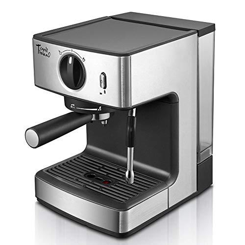 15 Bares Maquina De Cafe Con Espumador De Leche Inducción Máquina De Espresso Con Bomba Tradicional Con Bandeja De Goteo Extraíble Y Tanque Para Cappuccino Y Latte Macchiato 1250W
