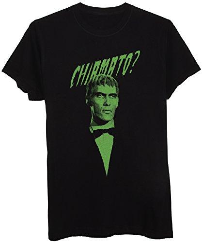 New Indastria T-Shirt Famiglia Addams Maggiordomo Lurch Frase Chiamato? Versione in Italiano -Retro Style - Bambino-M-Nera