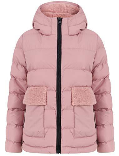 Tokyo Laundry Kensington Gesteppte Damenjacke mit Sherpa-Fleece-Futter, Kapuze Gr. 40, Dusky pink