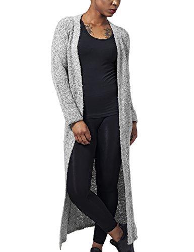 Urban Classics Damen Ladies Boucle Cardigan Cape, Grau (Grey 111), Medium