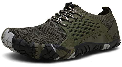 Voovix Zapatos Descalzos Zapatillas Minimalistas de Trail Running para Hombre(Verde,40)