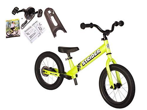 Strider - 14X 2-in-1 Balance to Pedal Bike Kit, Fantastic Green (Renewed)