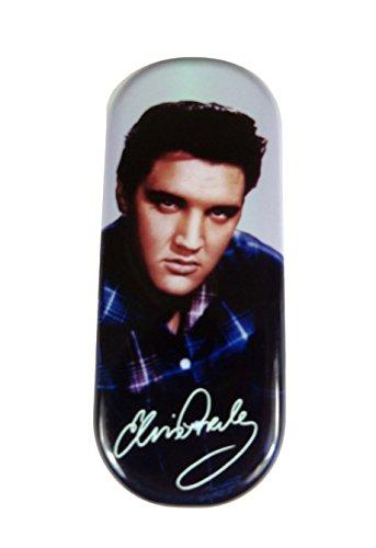 Elvis Presley BLAU Kariertes Hemd BRILLENETUI (exdisplay)