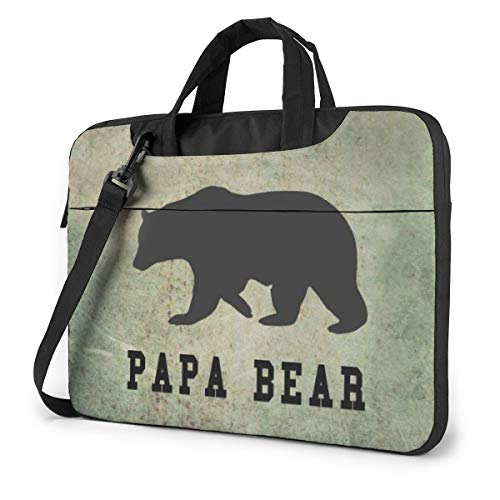 Laptop Bag 15.6 Inch Laptop Sleeve Case with Shoulder Straps & Handle/Notebook Computer Case Briefcase Compatible with MacBook/Acer/Asus/Hp - Papa Bear
