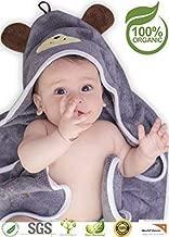Premium Hooded Baby Towel, 100% Organic Bamboo, Free Baby Bib or Gloves, Baby Shower..