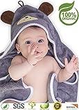 Premium Hooded Baby Towel, 100% Organic Bamboo, Free Baby Bib or...
