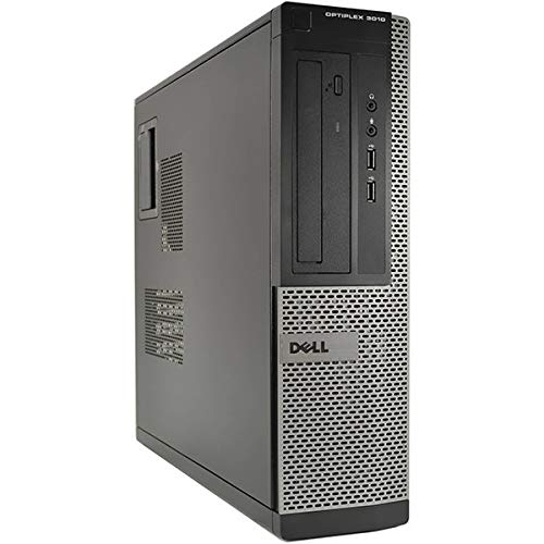 Dell OptiPlex 3010 DT Core i3-3220 8GB 250GB DVD WiFi Windows 10 Professional 64-Bit Desktop PC Computer (Renewed)
