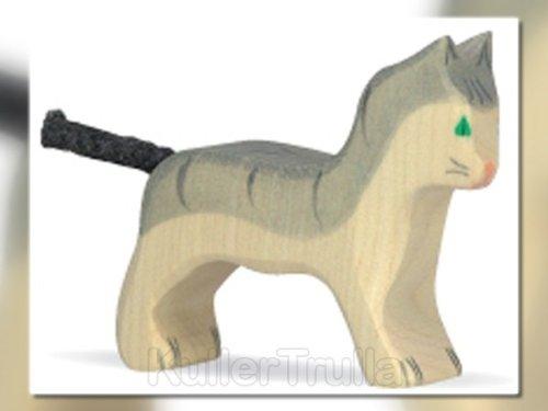 Holztiger 1434 Katze, klein, grau