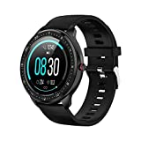 Tipmant Montre Connectée Femmes Homme Enfant Etanche IP68 Bracelet Connecté avec Cardiofrequencemetre Podometre Chronometre Réveil Notification Sport Smartwatch pour Huawei Samsung Xiaomi Sony