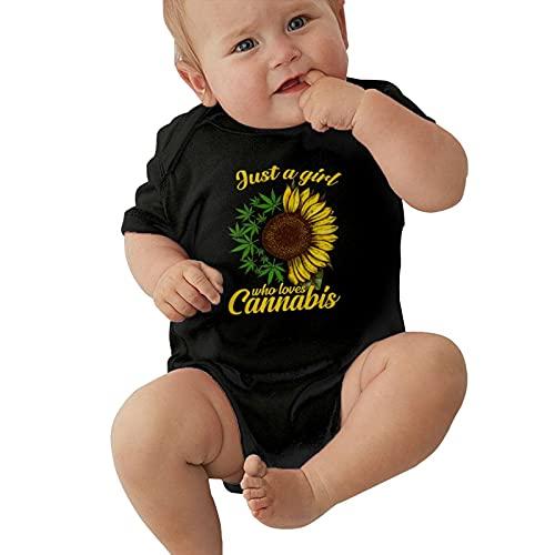 Inaayayi Bebé Onesies Girasol Verde Hoja de Arce Cannabis Hoja de Malezas Cartel Promocional Bebé Bodysuits Unisex Bebés Undershirts Bodysuits