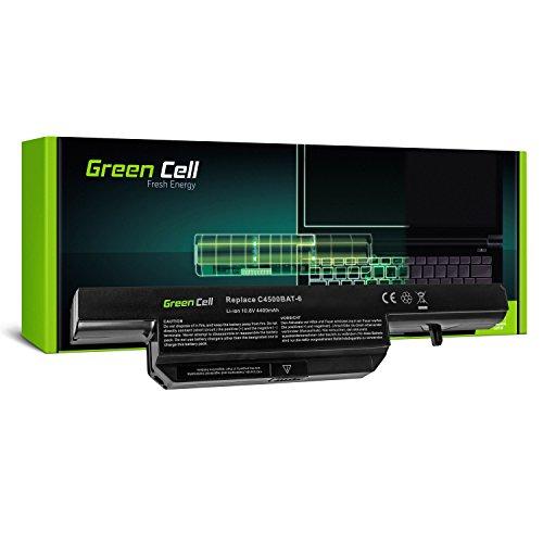 Green Cell Standard Serie C4500BAT-6 Laptop Akku für Clevo C4500 C5500 W150 W150ER W150ERQ W170 W170ER W170HR mySN Schenker Notebooks A500 Positivo Master N150 (6 Zellen 4400mAh 10.8V Schwarz)