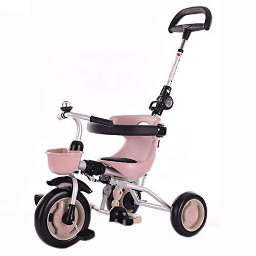 YETC Triciclos for niños Bicicletas 1-3-6 años de Edad Bicicletas cochecitos de bebé Bicicletas Infantiles niños y niñas de los cochecitos (Color : Pink)