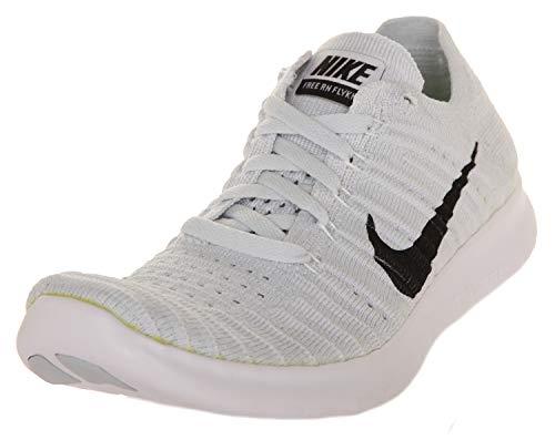 Nike Damen WMNS Free RN Flyknit Laufschuhe, Weiß (Weiß/Schwarz-Pure Platinum), 36 EU
