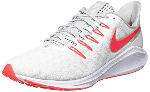 Nike Men's AIR Zoom Vomero 14 Running Shoe, White Laser Crimson Grey Fog Track Red, 8 UK