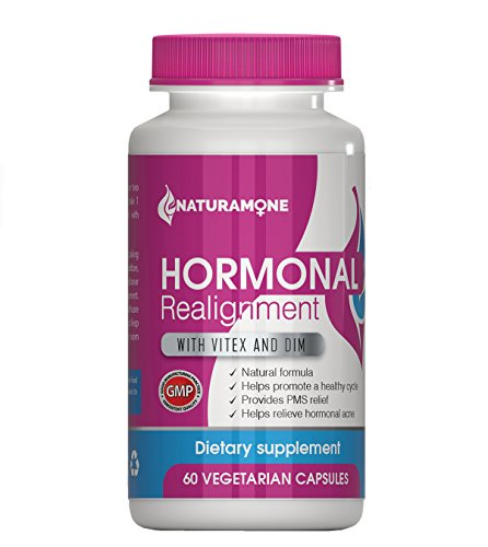 Vitex & DIM Hormone Balance for Women by Naturamone - for PMS Relief, Hormonal Acne, Estrogen Imbalance, Irregular Periods and PMDD - 60 Capsules