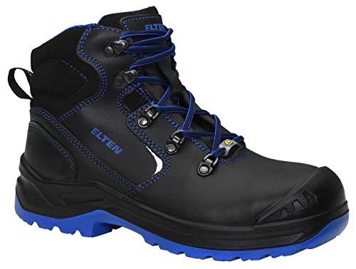 ELTEN Sicherheitsschuhe LENA black-blue Mid ESD S3, Damen, Lederschuh, robust, leicht, Schwarz, Stahlkappe - Größe 34