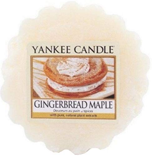 Yankee Candle Wachs Tartan Schmilzt - 8 Stunde Parfümiert Tee Lichter - Lebkuchen Ahorn