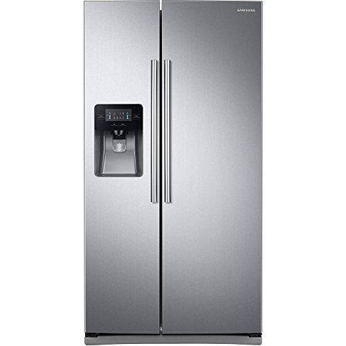 """SAMSUNG RS25J500DSR 36"""" Freestanding Side by Side Refrigerator with 24.52 cu. ft. Capacity,"""