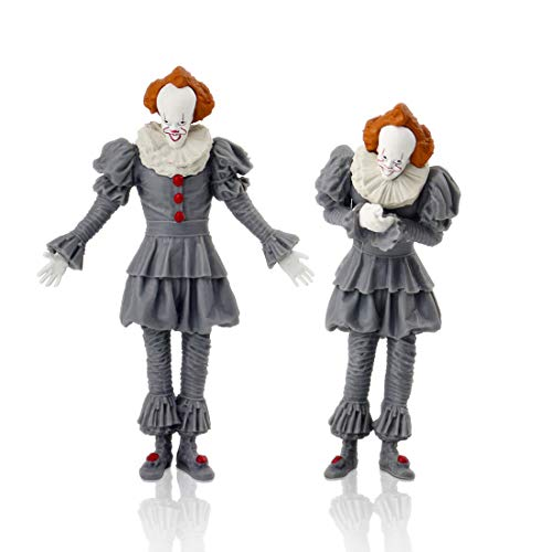 IT Action Figure Pennywise Collectible Figure Statues GK Home Office Car Decoration Ornaments PVC Figurine Model Toys Set of 2