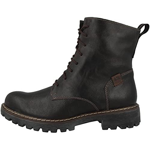Josef Seibel Damen Combat Boots Marta 02,Weite G (Normal),lose Einlage,Booties,schnürstiefel,Women's,Lady,Ladies,Boots,Braun (Moro),39 EU / 6 UK