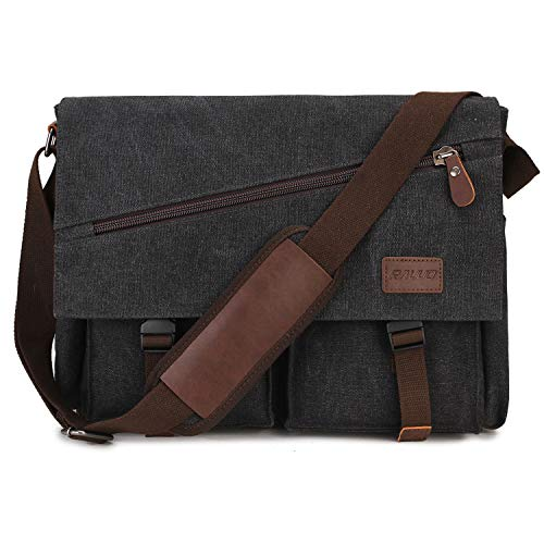 ▸Water Resistant: Mens messenger bag is made of high quality and water resistant canvas which can well protect your belongings. It's a unisex satchel bags that perfect for college, back to school, business and so on. ▸Anti-theft & Security:Canvas sho...