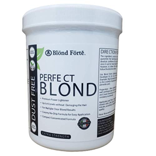 1.1 Pound Tub (500 Gram) Perfect Blond Extra Strength Professional Hair Dye Toner Lightener Bleach - Made in Italy (Blue Powder
