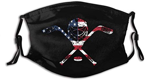 Cloth Face Mask Washable USA American Ice Hockey Goalie Mask2 Cute Face Covering Fabric Mouth Mask Reusable Custom A10