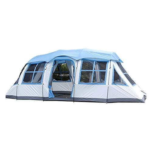 FGH QPLKKMOI Easy Set Up Camp Backpacking Escursionismo Outdoor, Doppio Strato Impermeabile Solare 6-8 Persone Tenda Zaino (Color : Blue)