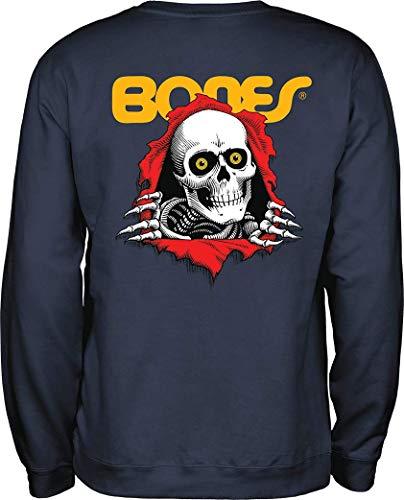 Powell-Peralta Skateboard-Sweatshirt, Marineblau - Blau - Groß