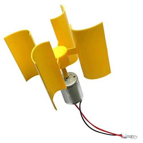 SGerste, Mini-Windturbine, 360 Grad, vertikale Windkraftanlage, Generator, LED, DIY, Lehrmodell