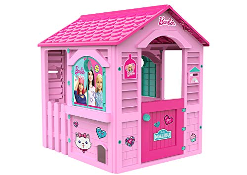 Chicos Casita infantil de exterior Barbie, color rosa con te