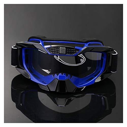 XIAOSHI Gafas de Ciclismo Motocicleta Dirt Bike Racing Goggles MX Off Road Glasses Motorbike Deporte al Aire Libre Oculos Ciclismo Gafas Motocross Gafas Gafas de Ciclismo Hombre (Color : Blue)