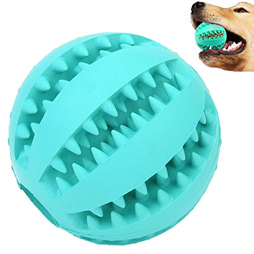 Sunglow Dog Toy Ball, Nontoxic Bite Resistant Toy Ball for Pet Dogs Puppy Cat, Dog Pet Food Treat Feeder Chew Tooth Cleaning Ball Exercise Game IQ Training Toy Ball ,Large/Medium/Small Dogs Toy.