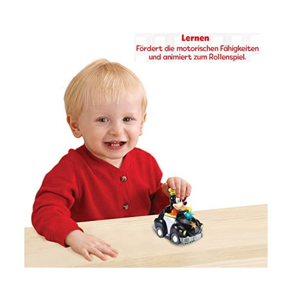VTech Tut Baby Flitzer-Goofys Polizeiauto bebé, Juguete, Coche Goofy (80-521604)